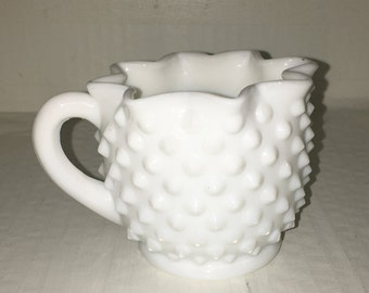 Vintage milk glass cup