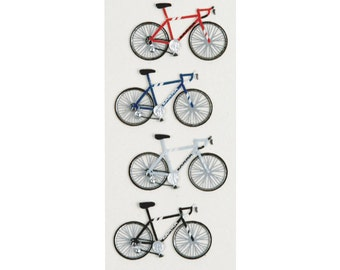 Road Bikes Mini Dimensional Stickers Little B Bicycle Sports 3D Stickers Scrapbook Card Making Planner Embellishment Pocket Scrapbooking