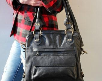 Pamela Tote Bag Black Leather