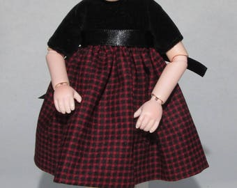 7 inch Doll, Kinder Kid Red and Black Dress