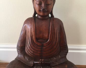 Hand-carved Wooden Buddha Statue