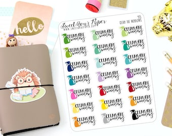 Clean the Windows Planner Stickers - Typography Planner Stickers - Chore Planner Stickers - Cleaning Stickers - Icon Planner Stickers - 975