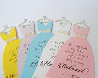 5 x Will You be My Bridesmaid Card, Bridesmaid Proposal, Maid of Honor Card, Will You Be My Maid of Honor, Bridesmaid Card, Bridal Cards