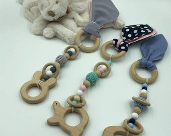 1 copy - rattle wooden natural play of grasping baby - available