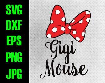 Disney Family - svg, dxf, eps, png, jpg cutting files - cricut, silhouette iron on Matching Couple Vacation Gigi Grandma Mouse iron on