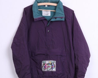 John F.Gee Womens 44/46 2XL Jacket Kangaroo Pocket Purple Nylon Waterproof 80s