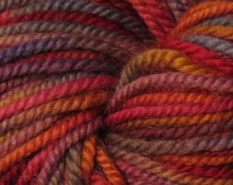 Handpainted Sport Weight Merino Wool Yarn orange pink blue