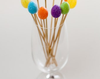 Easter Drink Stirrers, perfect for an Easter Celebration, Spring Special Occasion, Drink, Cocktail Decor, Bar Decor, Drink Decoration