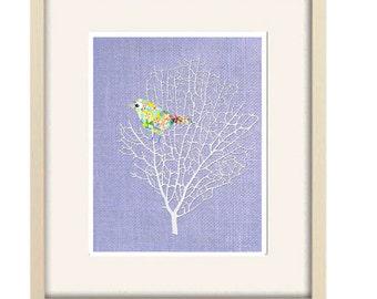 girl nursery art baby girl nursery decor bird decor lilac nursery bird print purple nursery decor purple print nursery wall art baby gift