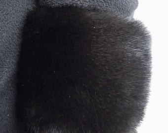 Real Ranch Mink Fur Detachable Cuffs made in usa new