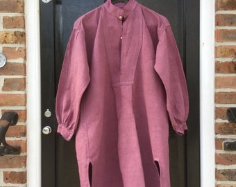 French Artisan dyed 19th century rustic linen shirt