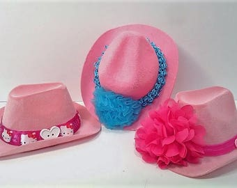 Pink Dolly Cowboy Hats for the American Girl Doll