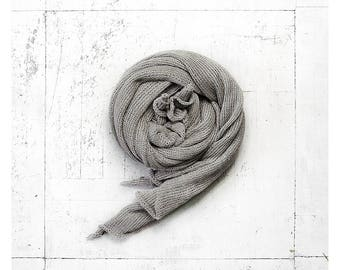 Linen scarf, linen shawl, knit scarf, mother day gift, summer scarf, summer linen, linen wrap, wraps scarves, grey scarf, grey linen