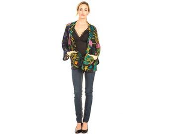 Kimono Jacket, Silk Kimono, Floral Kimono Jacket, Kimono Cardigan, Kimono, Unique Clothing, Summer Kimono, Short Kimono, Cardigan
