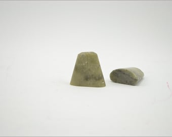Free Shipping Chinese Calligraphy Material  5cm Natural Shape Qingtian Seal Stone Soapstone / - 5 Pieces - 0004