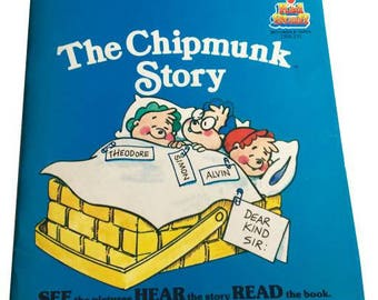 The Chipmunk Story Book and 7 Inch Album Kid Stuff Records & Tapes 1984