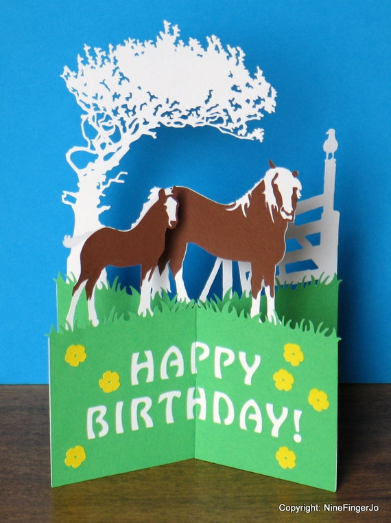 Horses birthday card mothers day card happy easter card like this item bookmarktalkfo Images
