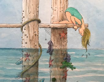 Beneath the Pier Illustration