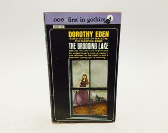 Vintage Gothic Romance Book The Brooding Lake by Dorothy Eden 1953 Paperback