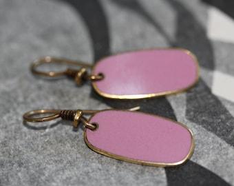 VINTAGE Laurel Burch PINK dangle earrings