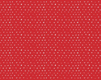 Little Hearts in Tomato by Dear Stella Little Red Collection Choose Your Cut
