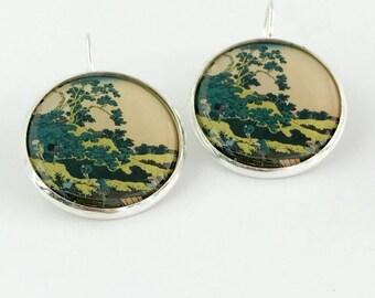 Katsushika Hokusai, Japanese Art, Fine Art, Mt Fuji, Mount Fuji, Hokusai, Hokusai Earrings, Hokusai Jewelry, Hokusai Jewellery, Painting,