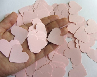 Pink Paper Heart Confetti, Wedding Confetti Pink Baby shower confetti Party Events Decorations