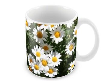Daisies  Ceramic Coffee Mug    Free Personalisation