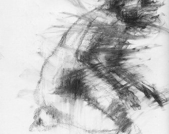 Haunting Fine Art Figure Drawing, No. 69