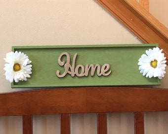 SALE!! Wooden Home sign