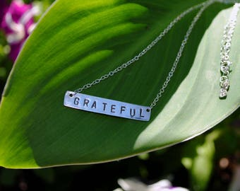 Grateful Dead Music Sterling Silver Simple Stamped Nameplate Necklace