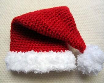 Crochet Santa Hat, Christmas hat, family Christmas hats, Christmas in July, babys first Christmas, santa hat, baby santa hat, baby hat