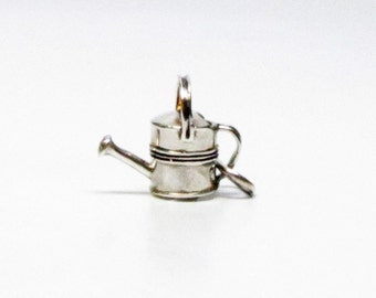 WATERING CAN, Sterling Silver, Charms, Gardener Gift, Gardening, Garden, Flowers, Floral, Necklace, Pendant, Best Friend Gift, Gift for Wife