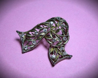"""2"""" Wide Rhinestone Knotted Scarf Pin/Brooch"""