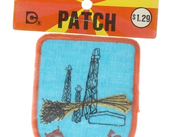 Vintage Uniform State Patch Kansas Praire Wheat and Oil