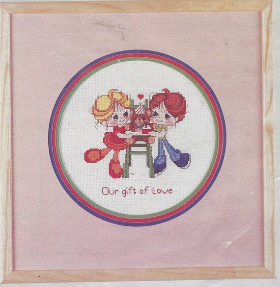 1980s Our Gift Of Love Counted Cross Stitch Kit Hugs N