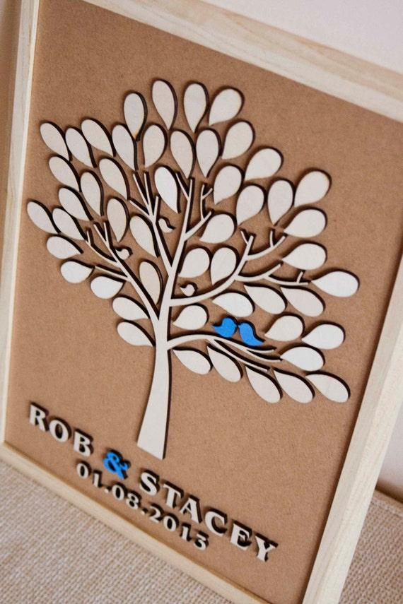 3D Wedding Guest Book Alternative Wedding Tree Wood Guest Book