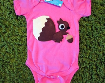 Fashionable Squirrel Infant Bodysuit