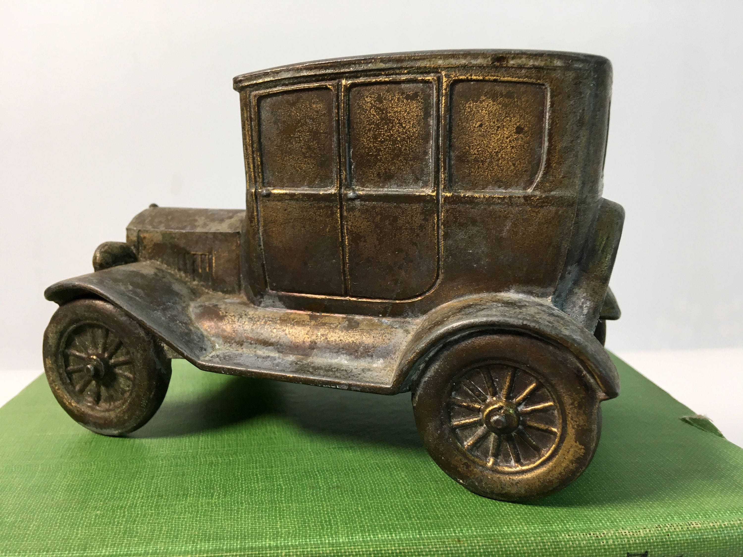 Vintage Brass Ford Car Bank - Retro Collectible Brass Bank Ad for a ...