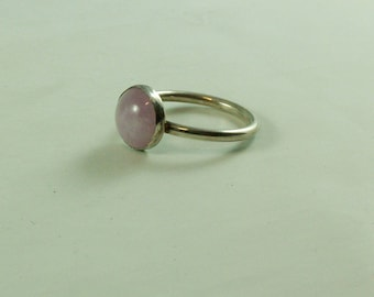 Sterling Silver ring with amethyst Lavender gemstone 10 mm