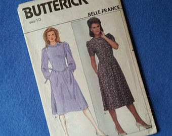 Uncut Butterick Belle France Vintage Sewing Pattern 4947 - Misses' Dress - size 10
