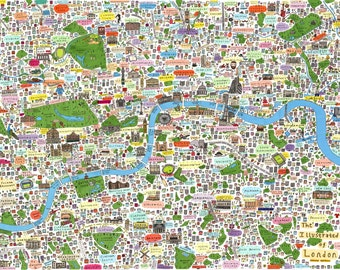 B2 Limited edition illustrated map of London second edition