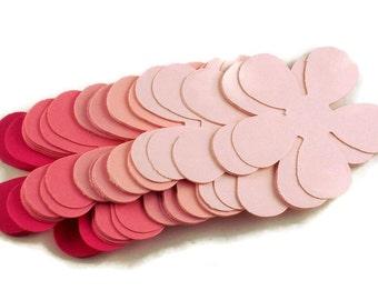 Paper Die Cut Flowers in    Retro Flower  Pink Pop
