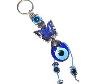 Evil Eye Keychain Butterfly, Evil Eye, Evil Eye Key Chain, Hamsa Keychain,  Evil Eye Hamsa (Buy 1 Get 1 FREE & FREE SHIPPING!!!)