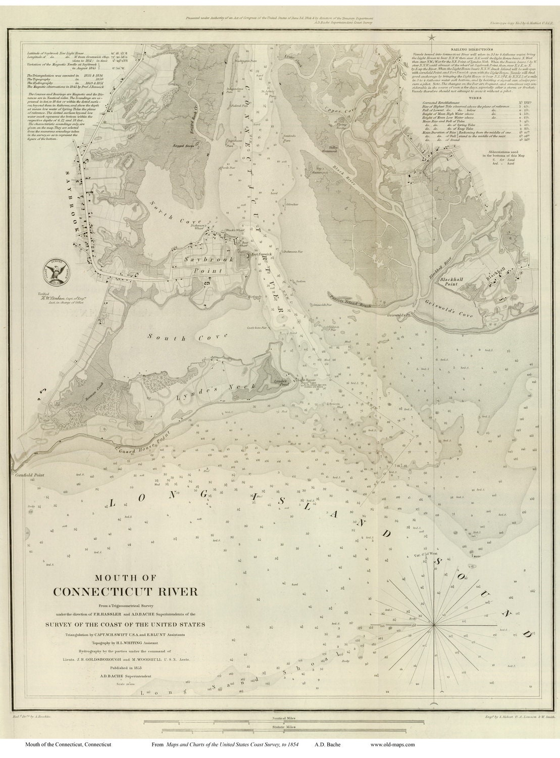 Mouth of connecticut river 1853 nautical map reprint zoom geenschuldenfo Choice Image