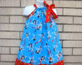 Wonder Woman Pillowcase Dress, Sizes 3M  up to 8 years