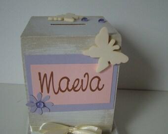 """Butterfly """"maeva"""" piggy bank"""
