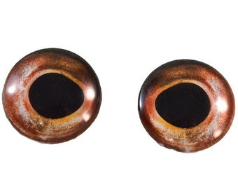 SALE Taxidermy Glass Eyes - 25mm - Glass Eyes - Red Fish