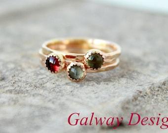 GOLD GEMSTONE Ring - gold thin stacking rings - gold stacking rings - gold crystal stacking ring - gold gemstone stacking ring
