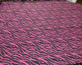Purple and Black Zebra print Throw